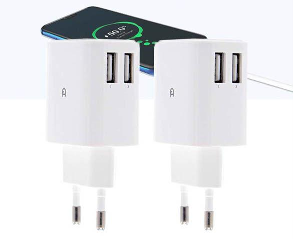 2-Pack 2-Poorts USB Snellader