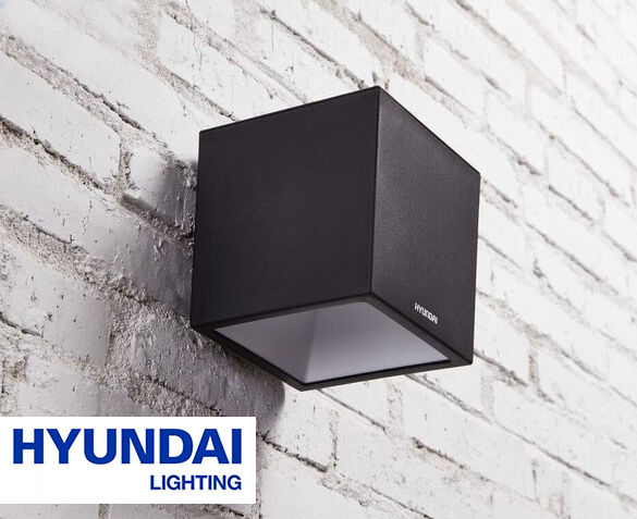 Hyundai XL Kubus Wandlamp op Zonne-energie