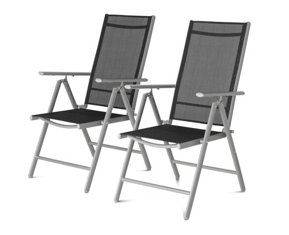 Set van 2 Aluminium Tuinstoelen