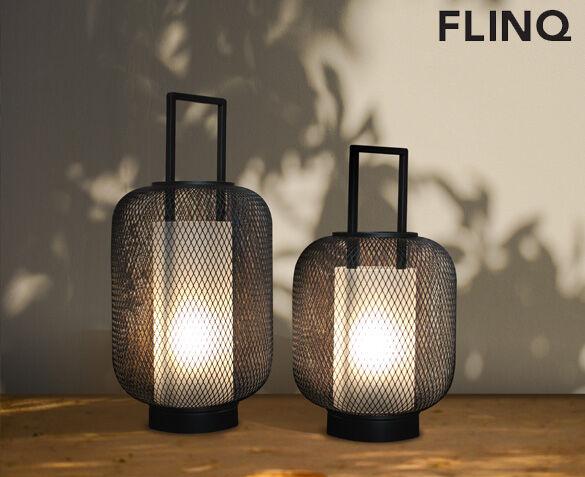 SET van 2 FlinQ LED Lantaarn